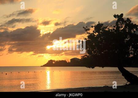 Negril beach in Jamaica - Stock Photo