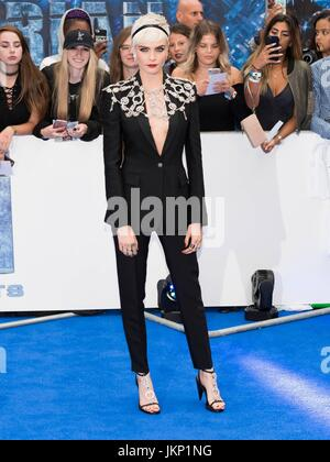 London, United Kingdom Of Great Britain And Northern Ireland. 24th July, 2017. Cara Delevingne attends the European - Stock Photo