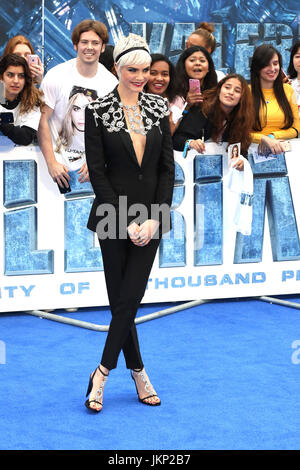 London, UK. 24th July, 2017. Cara Delevingne, Valerian and The City of a Thousand Planets - European film premiere, - Stock Photo