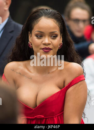 London, UK. 24th July, 2017. Rihanna attends the 'Valerian And The City Of A Thousand Planets' European Premiere - Stock Photo