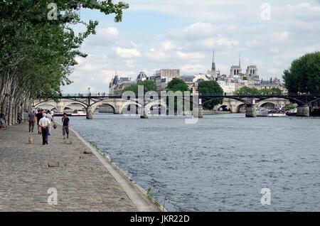 Paris, France, view of Ile de la Cite, River Seine - Stock Photo