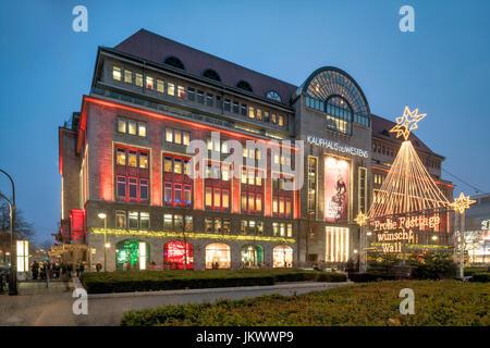 berlin kaufhaus des westens kdw western warehouse christmas lights stock photo royalty free. Black Bedroom Furniture Sets. Home Design Ideas