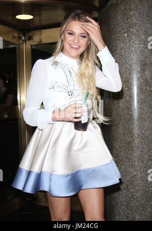 New York, USA. 25th July, 2017. Kelsea Ballerini seen at NBC Studios in New York City on July 25, 2017. Credit: - Stock Photo