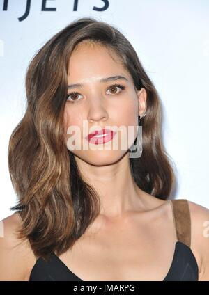 Los Angeles, CA, USA. 26th July, 2017. Kelsey Asbille at arrivals for WIND RIVER Premiere, Ace Hotel Los Angeles, - Stock Photo
