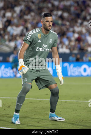 Los Angeles, California, USA. 26th July, 2017. Real Madrid Golie Francisco Casilla during the second half of their - Stock Photo