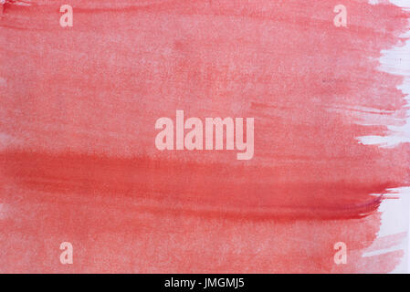 red color watercolor crayon on paper background texture - Stock Photo