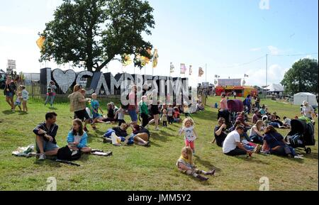 Dorset, UK. 27th July, 2017. Camp Bestival opens, Dorset, UK Credit: Finnbarr Webster/Alamy Live News - Stock Photo