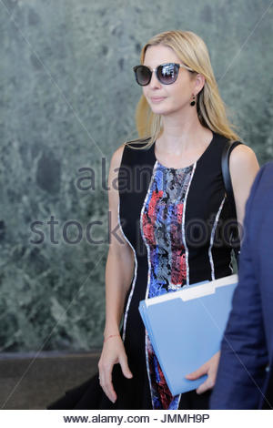 United Nations, New York, USA. 28th July, 2017. Ivanka Trumps Has Private Lunch With UN Secretary General Antonio - Stock Photo