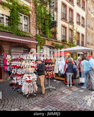 Lace gifts and souvenirs for sale outside a shop on the for Rue du miroir strasbourg