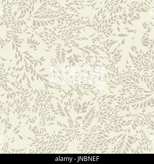 Abstract floral pattern Leaves swirl geometric seamless texture. Stylish abstract vector plant ornamental background - Stock Photo