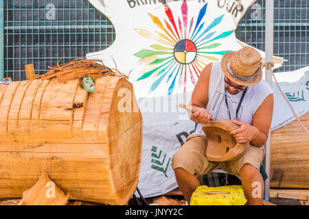 Vancouver, Canada. 30th Jul, 2017. the Drum is Calling Festival, Canada 150  event, Larwill Park, Vancouver, British - Stock Photo
