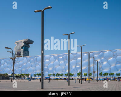 National Aquatics Center, The Olympic Park, Beijing, China - Stock Photo
