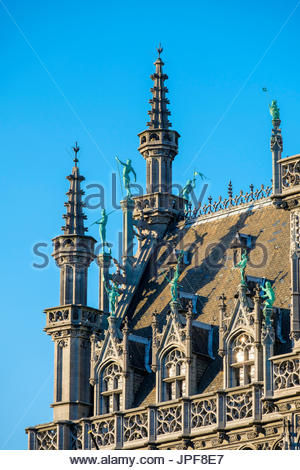 Belgium, Brussels (Bruxelles). Maison du Roi (King's House), or Broodhuis (Breadhouse) on the Grand Place (Grote - Stock Photo