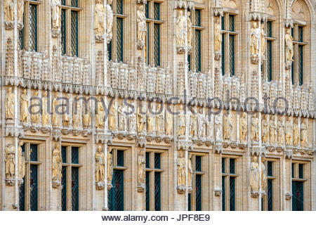 Belgium, Brussels (Bruxelles). Hotel de Ville (Stadhuis) town hall on the Grand Place (Grote Markt), UNESCO World - Stock Photo