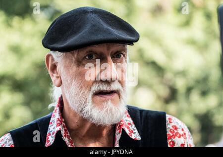 New York City, New York, USA. 3rd Aug, 2017. Mick Fleetwood of Fleetwood Mac. During a public 'Ivory Crush'' organized - Stock Photo
