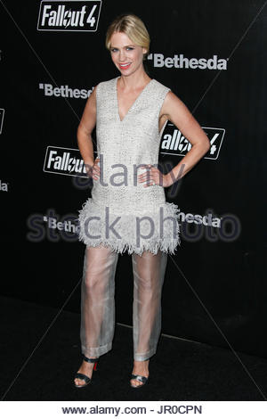 January Jones. LOS ANGELES, CA, USA - NOVEMBER 05: Actress January Jones arrives at the Fallout 4 Video Game Launch - Stock Photo