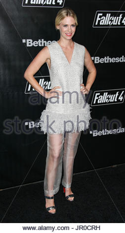 January Jones. LOS ANGELES, CA, USA - NOVEMBER 05: Actress January Jones arrives at the Fallout 4 Video Game Launch - Stock Photo
