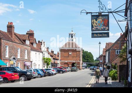 17th century Market Hall, Market Place, Old Amersham, Buckinghamshire, England, United Kingdom - Stock Photo