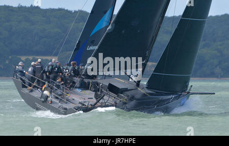 Cowes, UK. 4th Aug, 2017. Lendy Cowes Week Sailing All classes  IRC Zero Class yacht Tonnerre 4 NED Credit: Leo - Stock Photo