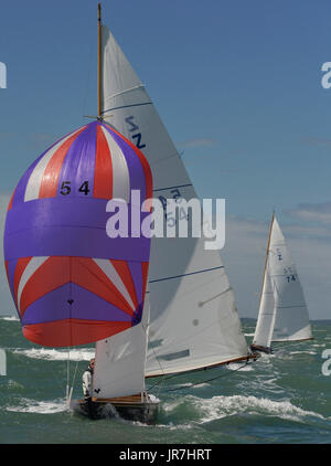 Cowes, UK. 4th Aug, 2017. Lendy Cowes Week Sailing All classes  Victory Class yachts Credit: Leo Mason sports photos/Alamy - Stock Photo