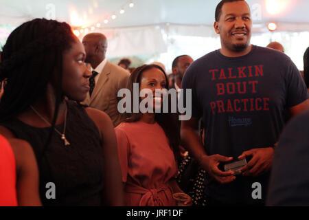 New York, NY, USA. 3rd Aug, 2017. Author/Arts Educator Sarah Lewis attends the celebration of Harlem Week 2017 themed - Stock Photo