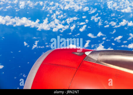 Clouds and sky as seen through window of an aircraft / Aircraft Windows,airplane windows / Asia - Stock Photo