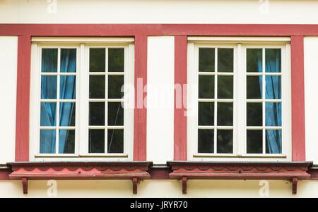 Two beautiful windows - Stock Photo