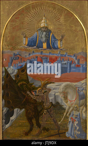 Paolo Uccello   St George slaying the dragon - Stock Photo
