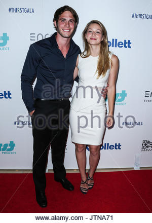 Blake Jenner, Melissa Benoist. BEVERLY HILLS, LOS ANGELES, CA, USA - JUNE 30: 6th Annual Thirst Gala held at The - Stock Photo