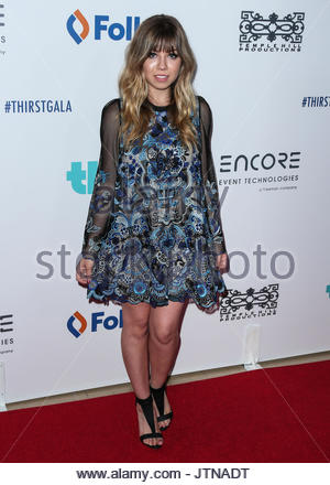 Jennette McCurdy. BEVERLY HILLS, LOS ANGELES, CA, USA - JUNE 30: 6th Annual Thirst Gala held at The Beverly Hilton - Stock Photo