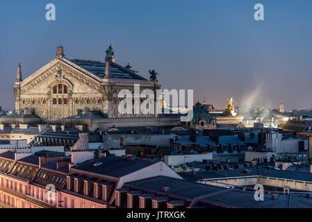 Roof of the Paris Opera Garnier building - Stock Photo