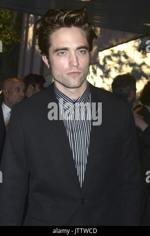 New York City. 8th Aug, 2017. Robert Pattinson attends the New York premiere of 'Good Time' at SVA Theater on August - Stock Photo