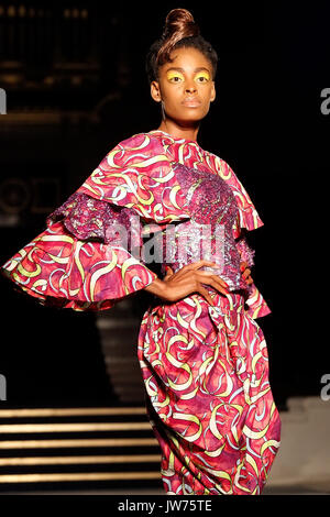 London, UK. 11 August 2017. Bijelli is showcased on the first day of the seventh edition of the AFWL. © Laura De - Stock Photo