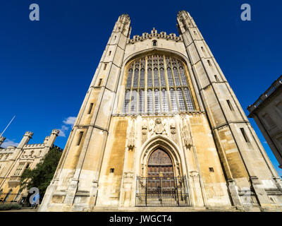 Kings College Chapel (started 1446 by Henry VI, taking over 100 yrs to complete) in the grounds of Kings College, - Stock Photo