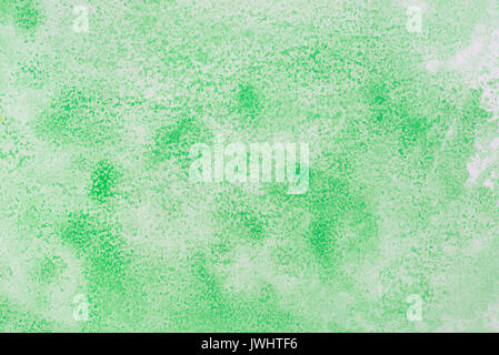green watercolor on paper background texture - Stock Photo
