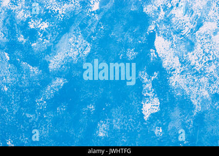 blue watercolor on paper background texture - Stock Photo