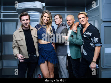 Celebrities attend the launch of  Alien Escape at Madame Tussauds London  Featuring: Vogue Williams, Spencer Matthews - Stock Photo