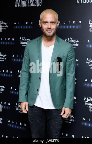 Celebrities attend the launch of  Alien Escape at Madame Tussauds London  Featuring: Spencer Matthews Where: London, - Stock Photo