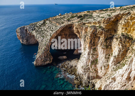 Azure Window, famous stone arch on Gozo island with ...