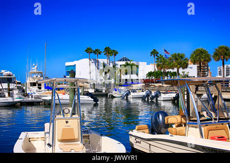 Marina Jack Restaurant on Marina Plaza in Sarasota FL, USA - Stock Photo