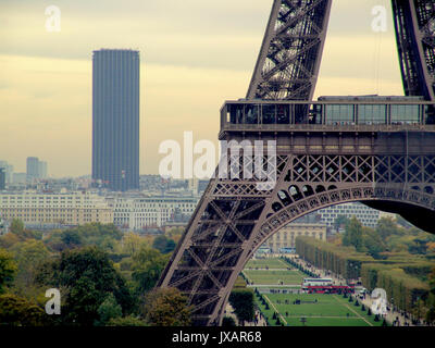 PARIS FRANCE - EIFFEL AND MONTPARNASSE TOWERS - PARIS PANORAMA FROM TROCADERO - PARIS VIEW © Frédéric BEAUMONT - Stock Photo