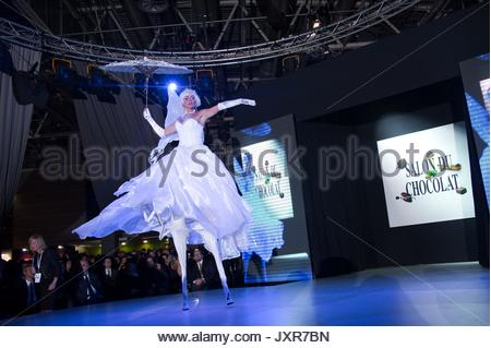 Atmosphere. Fashion chocolate show at Salon du Chocolat at Portes de Versailles on October 29, 2013 in Paris, France. - Stock Photo