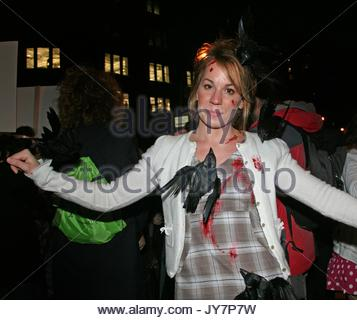 Now in its 34th year, the 2007 New York Halloween Parade 'Wings of Desire' was attended by hundreds of puppets, - Stock Photo