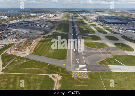An aerial view of Heathrow Airport, the UK's busiest - Stock Photo