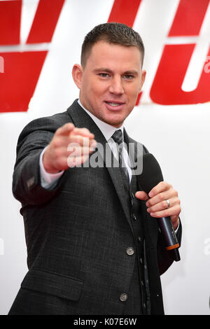 Channing Tatum attending the Logan Lucky UK Premiere held at Vue West End in Leicester Square, London. - Stock Photo