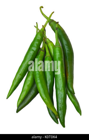 Cayenne pepper has a green skin. When mature, the color changes to yellow or red. - Stock Photo