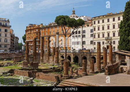 Largo di Torre Argentina square in Rome, Italy - Stock Photo