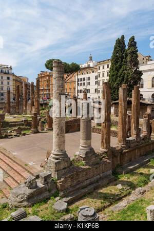 Largo di Torre Argentina square in Rome, Italy - Stock Photo
