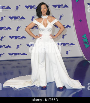 Los Angeles, USA. 27th Aug, 2017. Los Angeles, California - Cardi B. . 2017 MTV Video Music Awards held at The Forum - Stock Photo