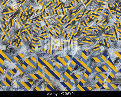 'Vauban Falling Into Place' - abstract artwork by Ed Buziak. - Stock Photo